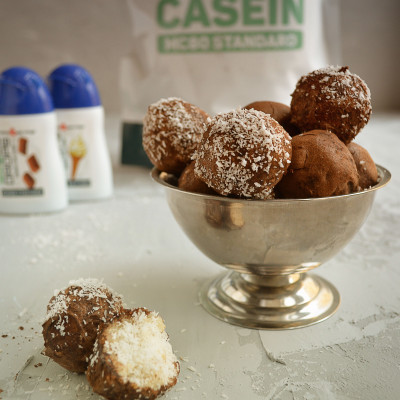 Кокосовые протеиновые конфеты