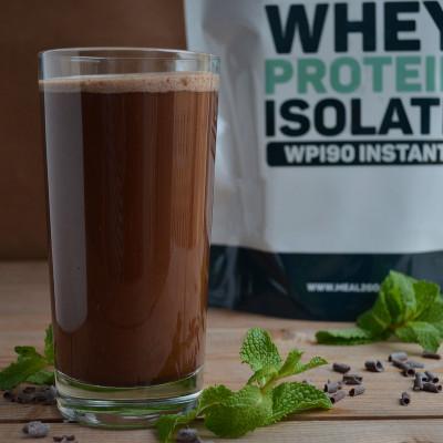 Протеиновый шоколадный коктейль с мятой